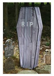 Halloween Coffin Prop by Amazon Com Collapsible Coffin Wood Grain 5 Foot Halloween