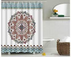 großhandel mandala bohemian wasserdicht duschvorhang hippie boho dekorationen geometrische dekor polyester badezimmer set 180x180 cm