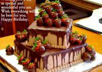 Birthday Cake With Wishes For Friends