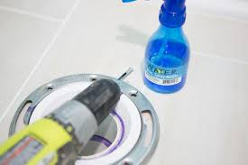 drilling porcelain tile for toilet flange