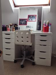 Vanity Table Ikea Uk by My Makeup Storage And Organisation Olivia Emily Beauty