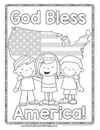 God Bless America Bible Coloring Page