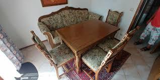 massives bauernmöbel esszimmer tisch sofa 4 stühle