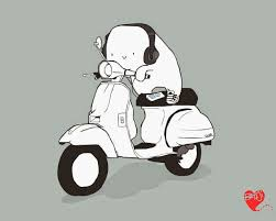 Label Vespa Cartoon Vector HD Wallpaper