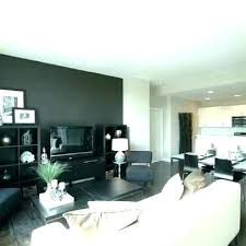 Gray Accent Wall Dark Dining Room Living Grey In