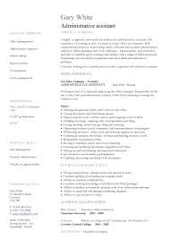 Resume Examples For Admin Jobs With Office Assistant Example