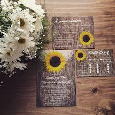 Rustic Sunflower Wedding Invitation Country