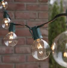 Lovely dramatic outdoor lighting strings