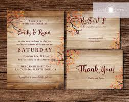 Rustic Wedding Invitation Fall Invite Autumn Printable