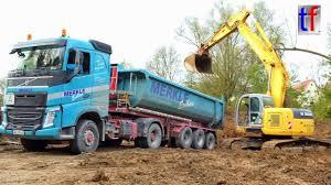 100 Truck Stop Loads NEW HOLLAND KOBELCO E 235 SR MAN Mercedes Volvo S