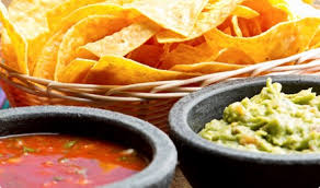 Delicious Tortilla Chips And Juicy Dip Sauces