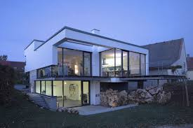 100 Modern Split Level Homes Evening Lighting Contemporary Home Aalen Germany