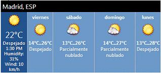 Weather Forecast Sharepoint Web Part