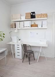 White Wood Linmon Table Top With Vika Alex Drawer Unit Under The Floating Wall Ikea OfficeIkea