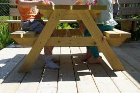 easy plans for diy kid sized picnic table the kid friendly home