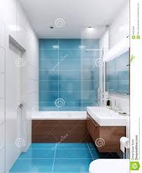 blaues und weißes badezimmer stockbild bild modern