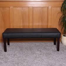 esszimmergarnitur garnitur m37 bank und 2 stühle kunstleder 120x43x49 cm schwarz dunkle beine
