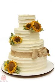 Rustic Buttercream Sunflower Wedding Cake