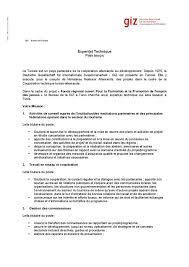 bureau d emploi tunis giz tunisie offre d emploi le bureau de la giz