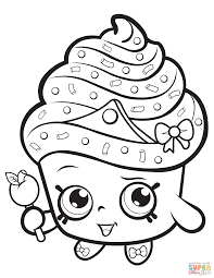 Beauty Lippy Lips Shopkin Coloring Page