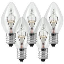 7 watt c7 light bulb candelabra base
