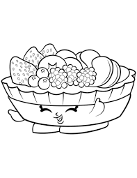 Click To See Printable Version Of Fifi Fruit Tart Shopkin Coloring Page