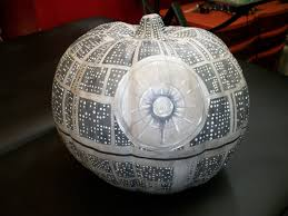 Gizmo Pumpkin Pattern Free by Painted Death Star Faux Pumpkin With Uv Reactive U0026 Glow In The