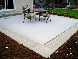 Concrete Patio With Border- Something Similar To This Would Be Fun ... Patio Ideas Concrete Designs Nz Backyard Pating A Concrete Patio Slab Design And Resurface Driveway Cement Back Garden Deck How To Fix Crack In Your Home Repairs You Can Sketball On Well Done Basketball Best 25 Backyard Ideas Pinterest Lighting Diy Exterior Traditional Pour Slab Floor With Wicker Adding Firepit Next Back Google Search Landscaping Sted 28 Images Slabs Sandstone Paving