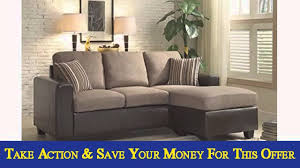 Ashley Hodan Microfiber Sofa Chaise by Homelegance 84013sc Reversible Sofa Chaise With 2 Pillows Brown