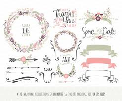 Vintage Flower Clipart Wedding Decoration 2