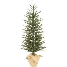 75 Douglas Fir Artificial Christmas Tree by Holiday Time Artificial Christmas Trees Unlit 4 U0027 Green Burlap