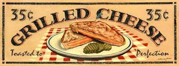 Grilled Cheese Sandwich Metal Sign Vintage Diner Lunch Retro Kitchen Decor Signs S