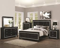Furniture Engaging Black Bedroom Sets Mirrored Set Drawers