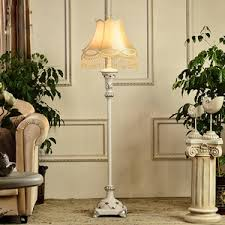 Mainstays Floor Lamp Instructions by White Painting Fixture Floral Shade Floor Lamp With Shelves