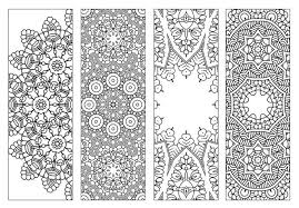 4 BookmarksPrintable Intricate Mandala Coloring PagesInstant