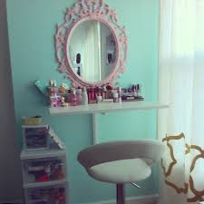 Bedroom Vanity Ikea by Diy Makeup Vanity Out Of Wall Mounted Shelves Ideas For My