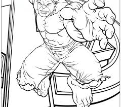 Hulk Coloring Page Avengers Free Printable Pages Image