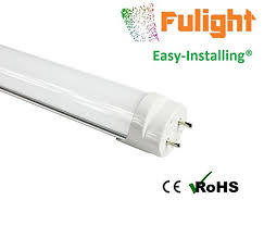 fulight easy installing t8 led light 24 inch 10 watt 6000k