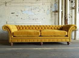 Tufted Velvet Sofa Bed by Sofa Classic Scroll Arm Tufted Velvet Chesterfield Large Sofa