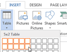 How To Insert A Table In Microsoft Word 2013