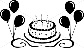 Birthday Cake with Balloons Graphic