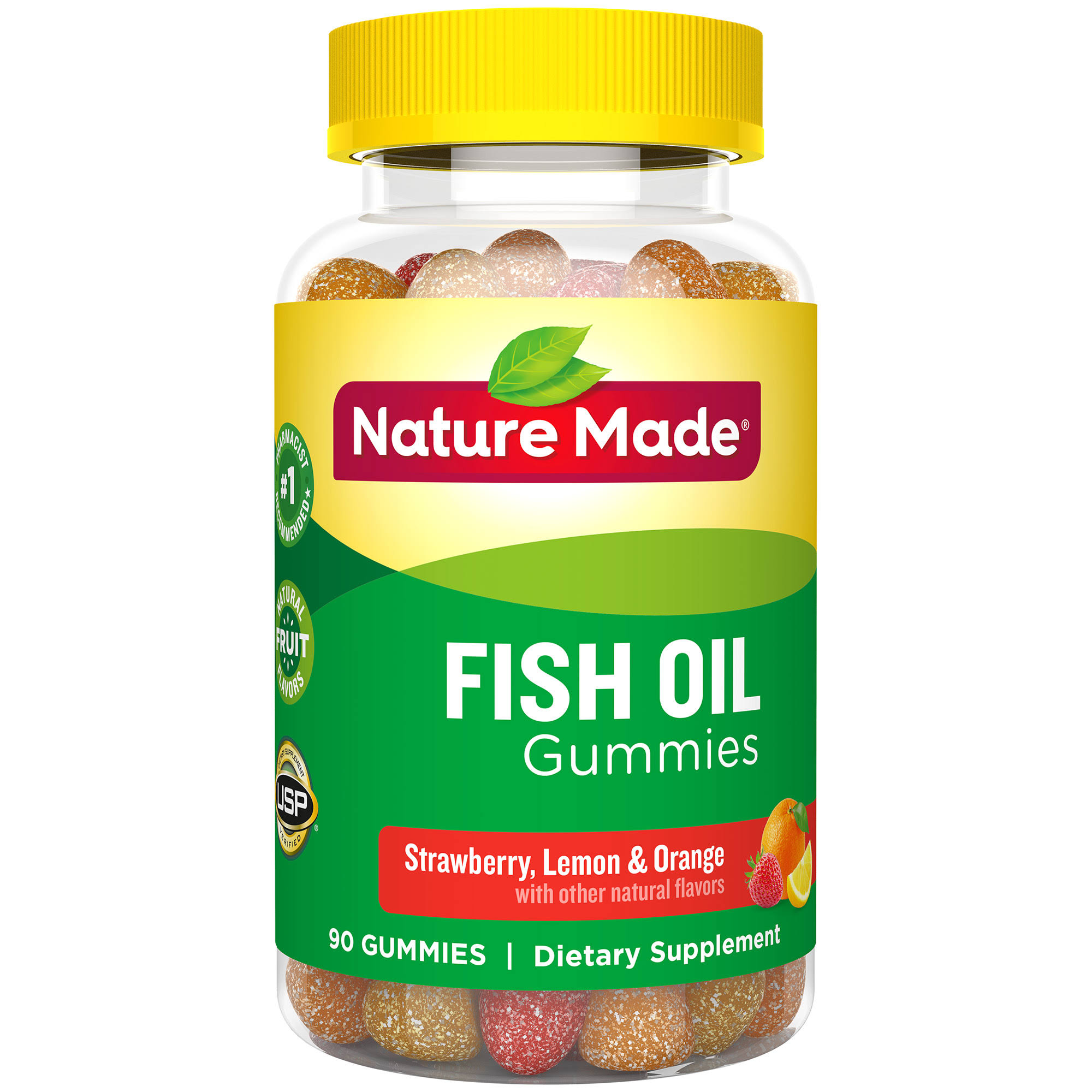 Nature Made Adult Gummies Fish Oil Supplement - Orange, Lemon and Strawberry Banana, 90ct