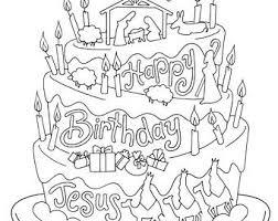 Happy Birthday Jesus Christmas Coloring Page Kids Holiday Slugs And Bugs Printable