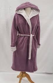 robe de chambre capuche robe de chambre polaire personnalisée femme