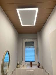infrarotheizung als deckenheizung mit licht led
