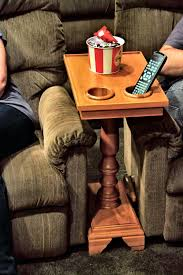 chair side end table server turned leg popcorn room and basements
