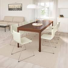 ekedalen bernhard tisch und 6 stühle braun mjuk weiß