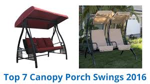 Patio Swings With Canopy by 7 Best Canopy Porch Swings 2016 Youtube