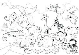 Zoo Animal Coloring Pages A3950 Kids Free Printable Sheets Page Animals