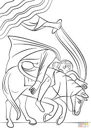 Paul On The Road To Damascus Coloring Page Pauls Conversion